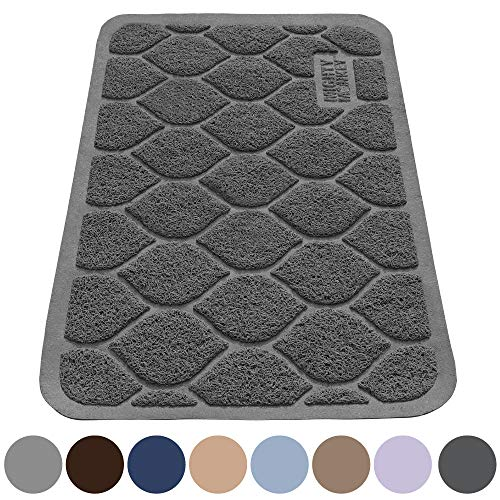 DM Paw-Shaped Cat Litter Box Mat,10 Colors Available,15.75x11.75 Inches