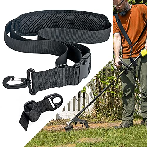 AKUATUZ Trimmer Strap Weed Eater Shoulder Strap Easy Release Brush Cutter Harness Compatible with EGO String Trimmer, Leaf Blower
