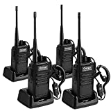 Walkie Talkie Rechargeable 4 Pack Portable Handheld 2 Way Radio Set Long Range