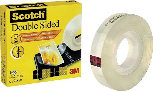 Scotch doppelseitiges Klebeband - 1 Rollen, Abmessung: 12,7 mm x 22,8 m, Kern: 25 mm