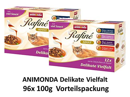 animonda Rafine Soupe im Multipack | 96x 100g Katzenfutter Sparpack