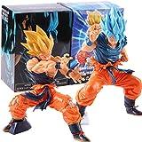 2 Piezas Anime Dragon Ball Z Figuras Son Goku Super Saiyan Super Masterlise Figuras De Acción Battle Blue Goku Damage Toys Muñeca Coleccionable 17Cm