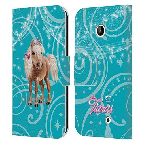 Head Case Designs Ufficiale Animal Club International Cavallo Diritti di Animali Domestici Cover in Pelle a Portafoglio Compatibile con Nokia Lumia 630