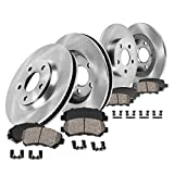 Callahan CRK02129 FRONT + REAR Brake Rotors + Ceramic Pads + Hardware [ fit Hyundai Sonata Hybrid Kia Optima LX LX EX ]