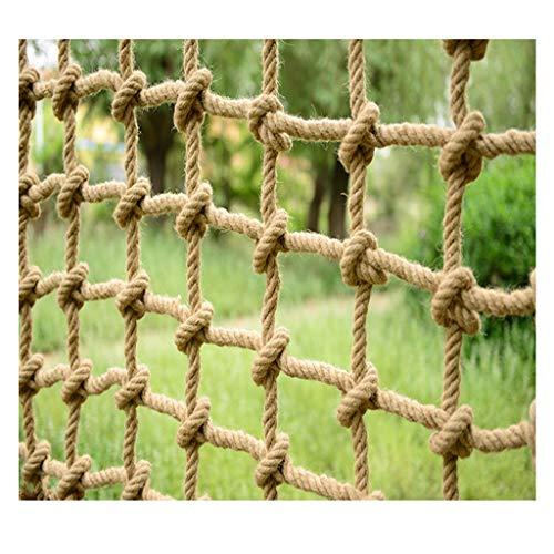 LYRWISHLTD Yute Protección Cuerda Jardín Casa del árbol Barandilla Valla Redes de Seguridad Red Decorativa Resistencia Red de jardín Red de Carga para niños Muelle de barandilla Protectora