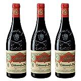 Clos de l'Oratoire de Papes 2017, appellation chateauneuf du pape, vin rouge, lot de 3 bouteilles