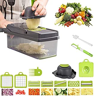 Yibaision Vegetable Chopper, Food Chopper with Stainless Steel Blade, Hand Protector, Drain...