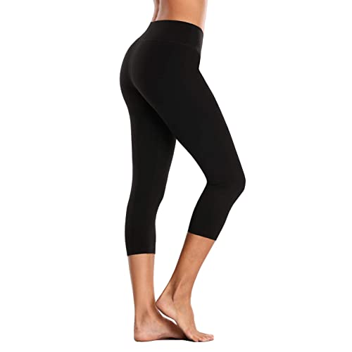 67237be856e82 vivicoco Women's Cropped Yoga Pants High Rise Active Compression Leggings