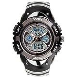 Orologi elettronici multifunzione/Orologi sportivi/Uomini e donne impermeabilizzano orologio dual-time-B