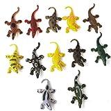12pcs Giocattolo Coccodrillo Modello Bambini Trucco Plastica Multicolore