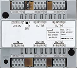 Aiphone Corporation GT-4Z 4-Way Video Distribution Adaptor for GT Series, Multi-Tenant Intercom, ABS Plastic Construction