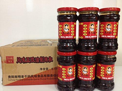 老干媽 風味トウチラー油(風味豆鼓・油制辣椒)280gx24瓶/ケース