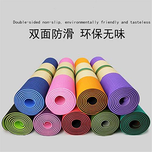 Alfombra de yoga o esterilla de ejercicio xffg viene con un cinturón. Antideslizante de 0,6 cm de grosor, ideal para ejercicios en casa