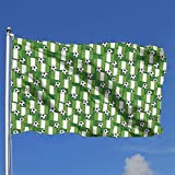Xhayo Banderas Nigeria Football Pattern 3x5 Ft Flag Outdoor Premium Quality