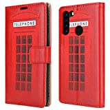 """For Blackview A80 Pro Leather Phone Case, Magnetic Closure Full Protection Book Folio Design, Wallet Case Cover [Card Slots] and [Kickstand] For Blackview A80 Pro (6.49"""") - Telephone Booth"""