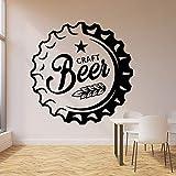 Tiempo para beber Trigo Alcohol Bar Pub Craft Beer Cap Logo Sign Beerhouse Etiqueta de la pared Calcomanía de vinilo Dormitorio Sala de estar Cocina Restaurante Decoración para el hogar Mural