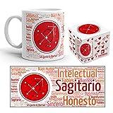 Kembilove Taza de Desayuno Horóscopo de Sagitario – Taza de café de Signo del Zodiaco Sagitario – Tazas de Café y Té Horóscopo – Regalo Original para Parejas, Cumpleaños, Amigos