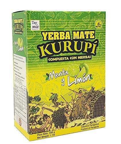 Kurupi Yerba Mate Menta y limón 500g