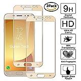 Guran [2 Paquete] Protector de Pantalla para Samsung Galaxy J5 2017 J530 / J5 Pro / J5 DUOS (2017) [Full Coverage] Vidrio Cristal Templado 100% Cobertura Completa Film - Dorado