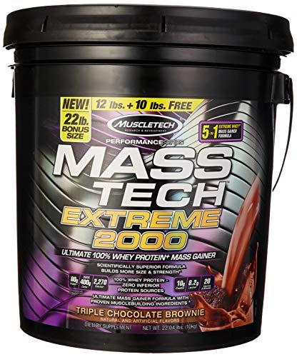 Muscletech Performance Series Mass Tech Extreme 2000, Triple Chocolate Brownie, 9979 g