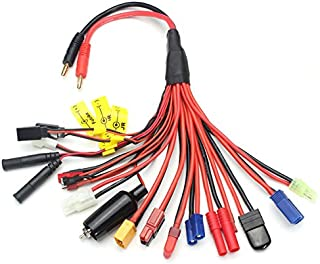 KINGDUO Multifonction Balance Charging Cable xt60 Ec3 Ec5 TRX T Jst Jr Futaba Anderson Adaptateur