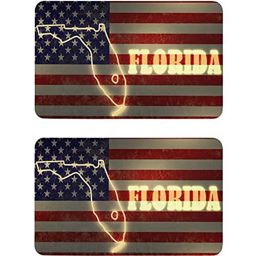 Vnurnrn Imán para lavaplatos de la bandera americana, placa magnética, placa decorativa para cocina, oficina, lavadora, 2 unidades