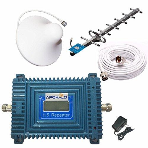 apohalo 70dB teléfono celular 3G 4G LTE CDMA 850MHz Amplificador de señal repetidor Amplificador con interior Látigo Y al aire última intervensión antena Yagi Antenna GSM