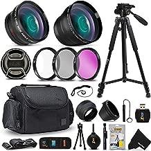 Professional Accessories Kit for Canon EOS Rebel T8i T7i T7 T6i T6 T5i T5 SL3 SL2 EOS 4000D 2000D 90D 80D 70D 77D M2 7D & 7D Mark II DSLR Camera Includes 58mm Lens Attachments, Case, Tripod + More
