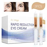 Rapid Reduction Eye Cream for Rapidly Reducing Bagginess, Puffiness, Dark Circles and Wrinkles in 120 Seconds by St. Mege 2Pcs