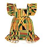 YOUNGER TREE African Baby Clothes Girl Dashiki Ankara Outfit Set (6-12 Months, Romper-1)