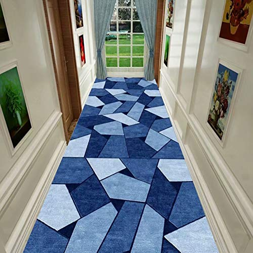 Runner Tapijten Runner Tapijt voor hal keuken, modern grijs geometrie rechthoekig Nordic tapijtloper, 100cm / 200cm / 300cm lang 0.8x3.0m B