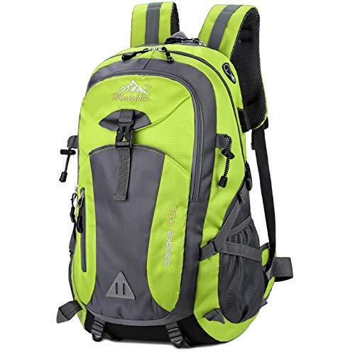 yuery 40l portátil 15.6 pulgadas hombres unisex mochila al aire libre viaje pack ciclismo pesca senderismo escalada camping deporte bolsa paquete para hombre verde
