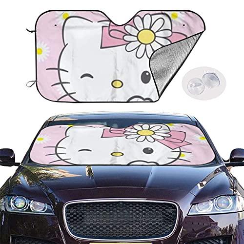 Daisy Hello Kitty Sun - Parabrisas térmico para coche, protección UV, protección para el coche