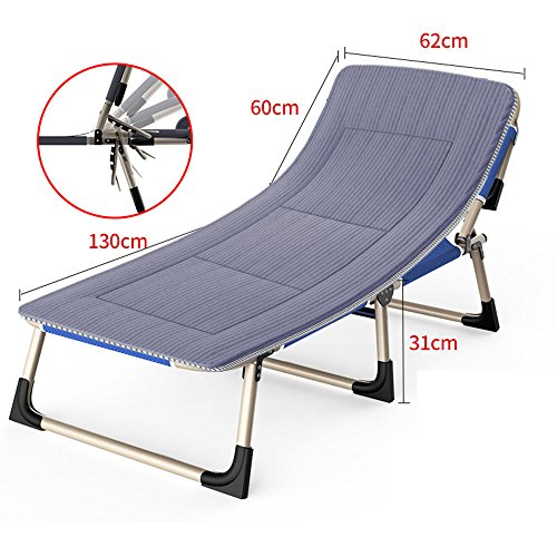 FEIFEI Fauteuils inclinables Chaise pliante avec des coussins simple bureau déjeuner pause chaise pliante inclinable Pliant (Couleur : A)