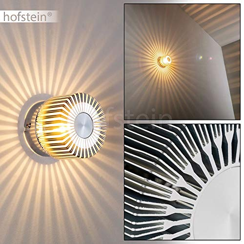Wandleuchte Cantoni, Wandlampe aus Metall in Nickel-matt, Wandspot 1-flammig, 1 x G9 max. 28 Watt, Wandstrahler mit Lichteffekt, LED geeignet