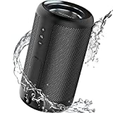 ATSOUND Altavoz Bluetooth portátil IP65 resistente al agua Powerbank Bluetooth Wireless Altavoz Mini Stero Bass Altavoz Negro
