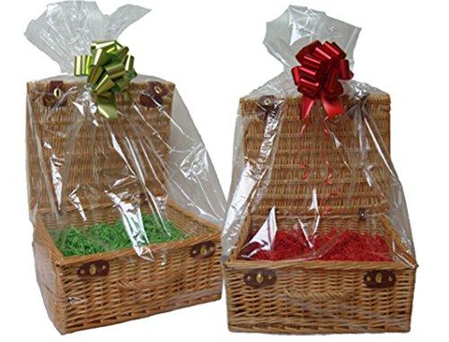 Doorzichtige mandjes van cellofaan - Zoet display - Geschenkmand mand inpakken - Geschenkverpakking (Maat Groot - 47x43x122cm hoog - pak van 10)
