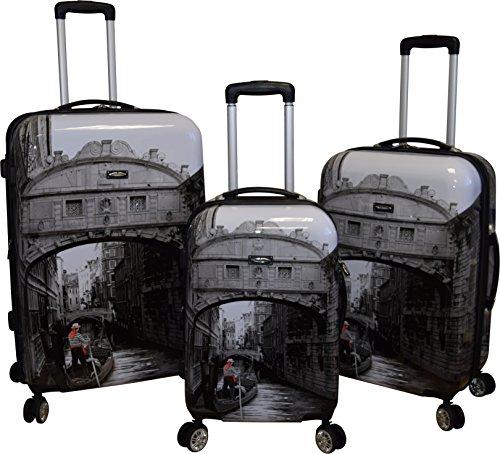 Kemyer 788 Vintage World Series Lightweight 3-PC Expandable Hardside Spinner Luggage Set