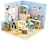 DIVISTAR Kit de casa de muñecas en miniatura, kit de casa de bricolaje, mejores regalos de cumpleaños, escala 1:24, juegos de construcción de rompecabezas de casa - Ding Dong Fossa