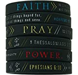 (6-pack) 'Faith, Power, & Pray' Bible...