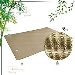 ACUIPP Tapis de Couloir Tapis de Tapis En Bambou Tapis En Rotin Naturel Tapis D'Été Tapis Tressé En Bambou Tapis Rampant…