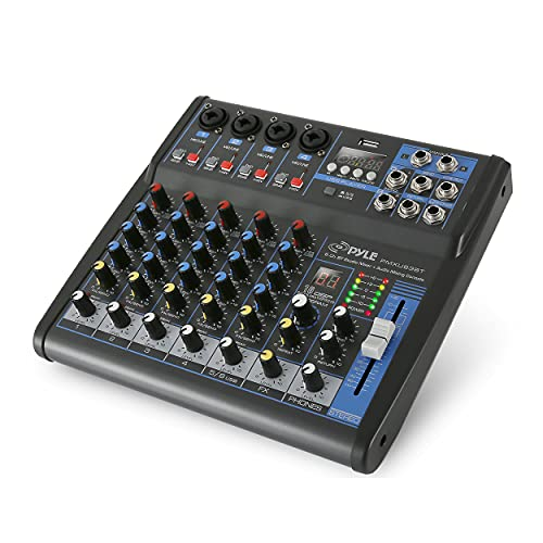 Pyle Professional Audio Mixer Sound Board Console - Desk System Interface with 6...