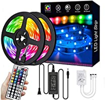 LED Strip Lights,32.8ft RGB 300LEDs Waterproof Light Strip Kits with infrared 44 Key, Suitable for Room,TV, Ceiling,...