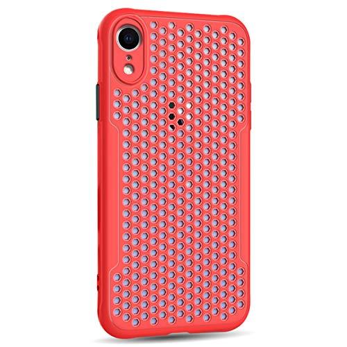 Funda Compatible con iPhone XR, Ultra-Delgado Disipadores de Calor Carcasa Anti caída Totalmente Protectora Caso de silicona Cover Case para iPhone XR, Rojo