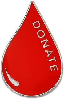 PinMart Red Blood Donor Awareness Enamel Lapel Pin