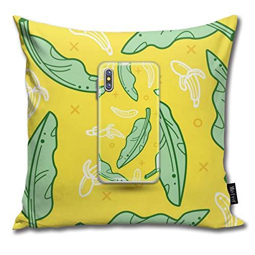 Colin-Design Dekokissenbezüge, Bananenblatt-Design, dekorativer Kissenbezug für Zimmer, Schlafzimmer, Zimmer, Sofa, Stuhl, Auto, 50,8 x 50,8 cm