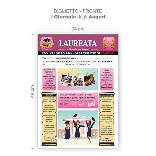 Biglietto Auguri Giornale Laurea (LAUREATA)