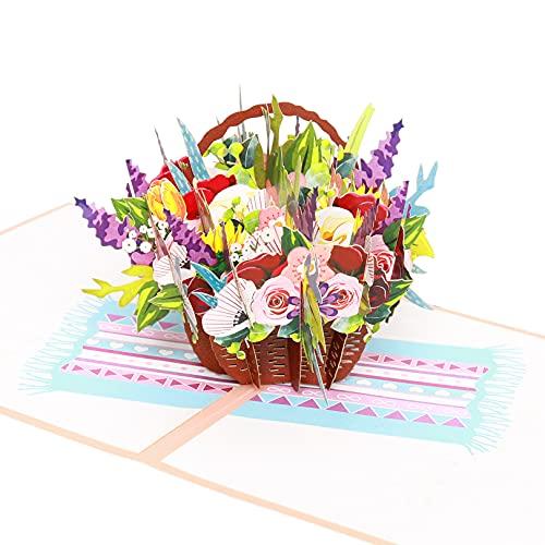 3D Geburtstagskarte Pop-Up Karte Blumenkarte,geschenkideen für freundin,danke karte, Geschenk Zum Geburtstag für Mama, Frau, Mutter, Oma oder Freundin