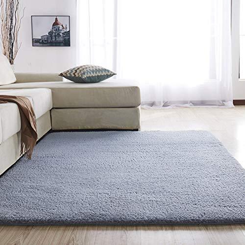 MENGH Teppich schalldämmend 120x220cm, Schlafzimmer Teppiche Spitzenqualität Gemütliches fürWohnzimmerSchlafzimmerSofa Grau
