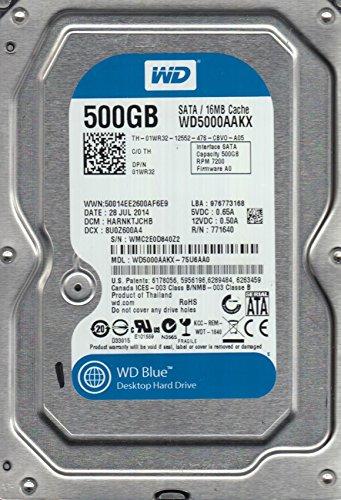 WD5000AAKX-75U6AA0, DCM HARNKTJCHB, Western Digital 500GB SATA 3.5 Festplatte
